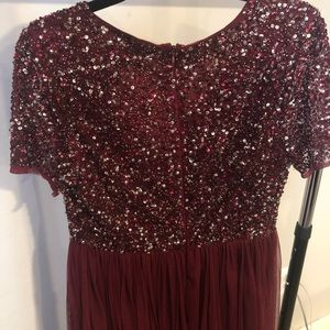 ASOS Petite Dresses - ASOS Maya Petite V-Neck Sequin Maxi Tulle Dress